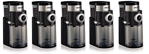 KRUPS GX5000 Professional Electric Coffee hGqrUc Burr Grinder with Grind Size and Cup Selection, 7-Ounce, Black, Burr Grinder (Pack of 5) by KRUPS