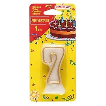 WDK Partner COU607 - Vela para tarta de cumpleaños del ...