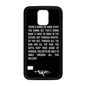 Rubber Silicone case, tupac shakur quotes Snap On Protector Sport Fans Case Cover Samsung Galaxy S5 i9600 by DyannCovers