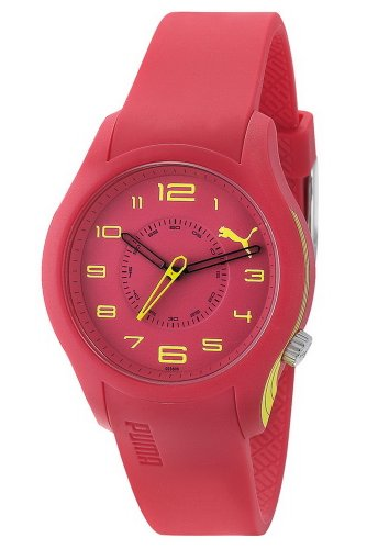 Puma Time Women's Quartz Watch Boost Ladies Red PU102352009 with Rubber Strap
