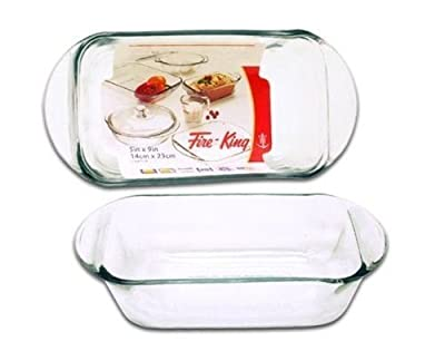 Anchor Hocking 9 x 5 inch Heat Resistant Glass Loaf Pan
