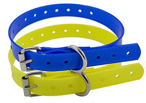 (TrainPro 2-Pack Replacement Dog Training Shock Bark e Collar TPU Plastic Strap Band Buckle 3/4