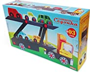 Caminhão Cegonha - Carimbras - Brinquedo Educativo De Madeira
