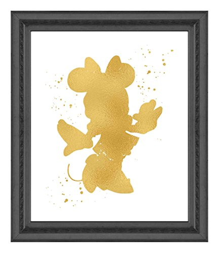 Minnie Mouse Inspired - Poster Print Photo Quality - Made in USA - Disney Inspired - Home Art Print - Frame not included (8x10, Gold)