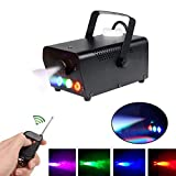 Fog Machine Wireless Remote Control Smoke Machine with RGB Color LED Light Fog