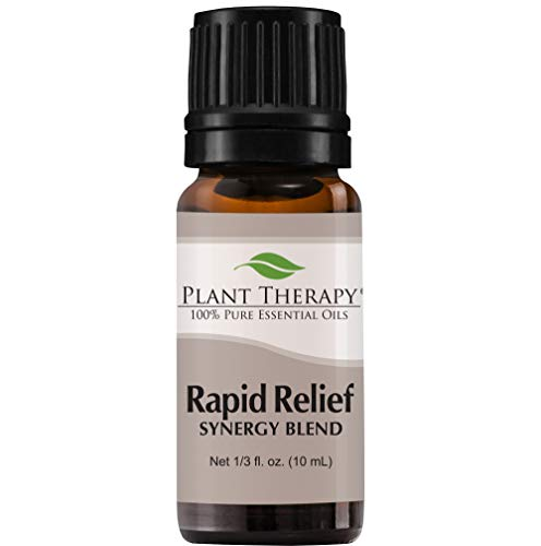 Plant Therapy Essential Oils Rapid Relief Synergy - Pain and Soreness Blend 100% Pure, Undiluted, Natural Aromatherapy, Therapeutic Grade 10 mL (1/3 oz)