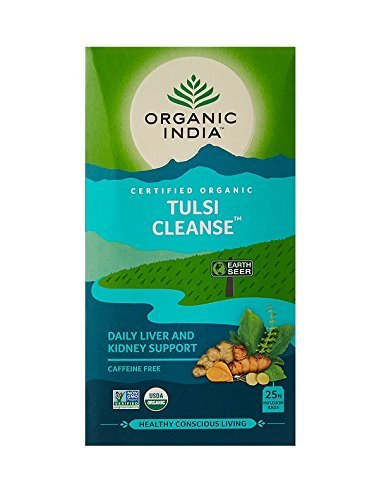 Organic India Tea Tulsi Cleanse Org (Tulsi Cleanse Daily Liver & Kidney Support)