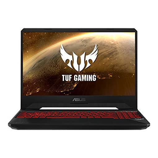 "ASUS TUF Gaming FX505DY-BQ024 - Portátil Gaming 15.6"" FullHD (Ryzen 5 3550H, 8GB RAM, 512GB SSD, AMD Radeon RX560X-4GB, Sin sistema operativo) Negro Red Matter - Teclado QWERTY Español 1"