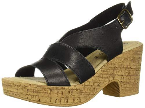 Bella Vita Women's Jaz-Italy Slingback Sandal Shoe, Black Italian Leather, 10 2W US