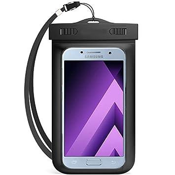 Semoss Universal Transparente Funda Impermeable IPX8 Certificado Carcasa para Samsung Galaxy A3 2017 Waterproof Bolsa Case Cover +acollador para ...