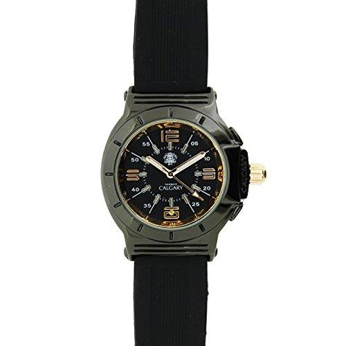 Relojes Calgary Richmond Hill. Reloj clásico para Mujer. Esfera Negra y Dorada y Correa Color Negra: Relojes Calgary: Amazon.es: Relojes