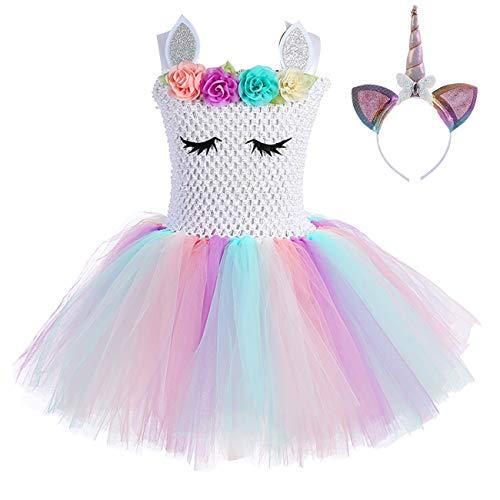 Kids Girl Unicorn Tutu Costumes Birthday Party Dress