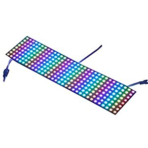 WS2812b Pixel Matrix,CHINLY 8x32 256 Pixels WS2812B Digital Flexible LED Panel Programmed Individually addressable Full Dream color lighting DC5V