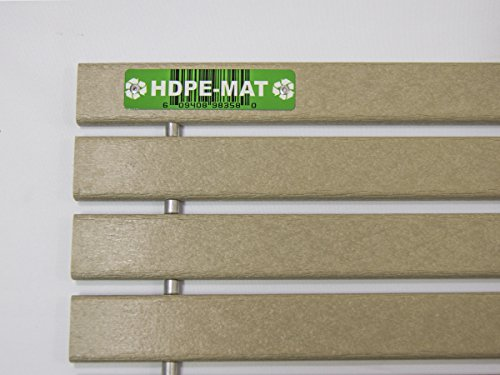 HDPE-MAT UV Resistant Heavy Duty Waterproof Front Door Mat | Stylish Handcrafted Recycled Plastic Poly Lumber Slats - Eco Friendly For Outdoor Entrance Patio Garage Entry by HDPE-MAT (Image #4)