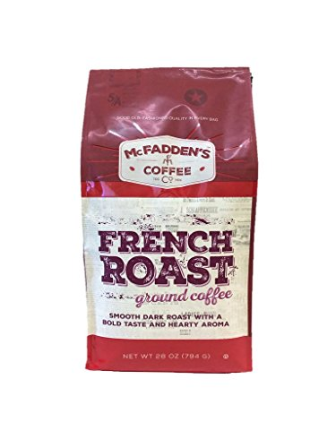 (McFadden's French Roast 28 Ounce Ground Coffee, Smooth Dark Roast with a Bold Taste and Hearty Aroma)