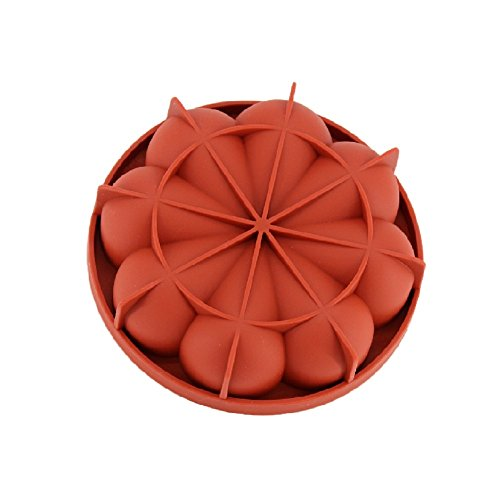 New Arrival Wine Red Silicone 3D Irregular Petals Shape Mold for Mousse Cake Pudding Ice Cream Bread Brownie Bakeware (Unique Halloween Cake Recipes)