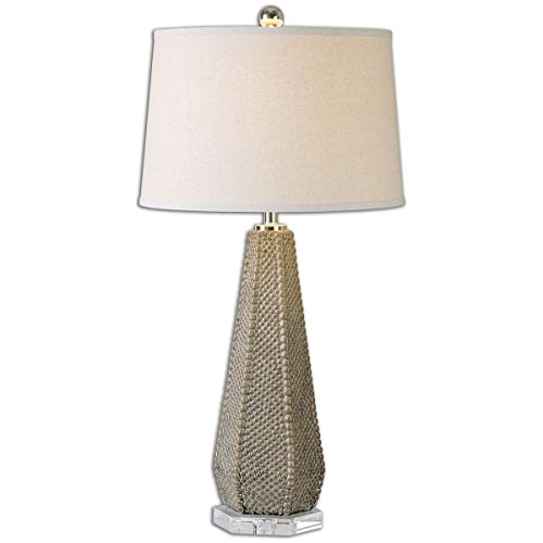 Cheap Uttermost 26133 Pontius Taupe Lamp, Beige