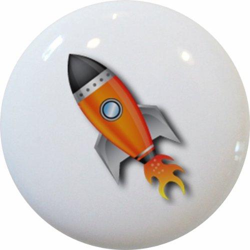 Carolina Hardware and Decor 1387 Space Ship Rocket Ceramic Cabinet Drawer Knob
