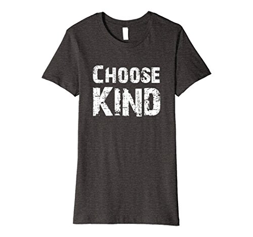 Womens Choose Kind Teacher Choose Kindness T-Shirt for lover Medium Dark Heather