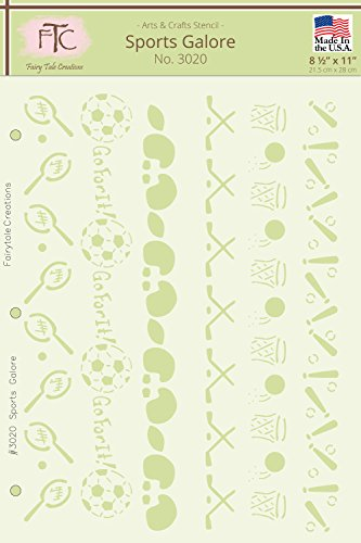 (Fairytale Creations Sports Galore Stencil, 8.5