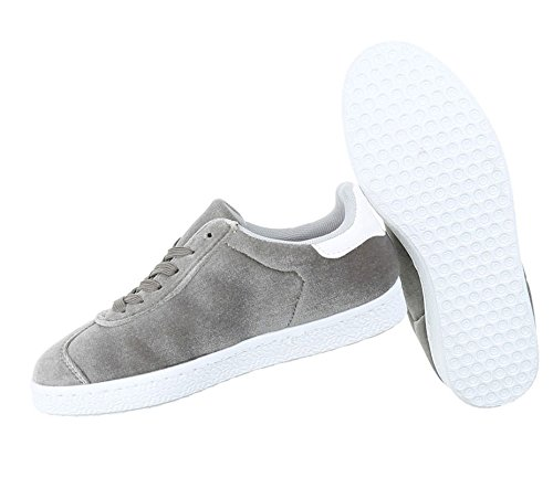 Damen Freizeitschuhe Schuhe Sneakers Sportschuhe Turnschuhe Sportschuhe Grau
