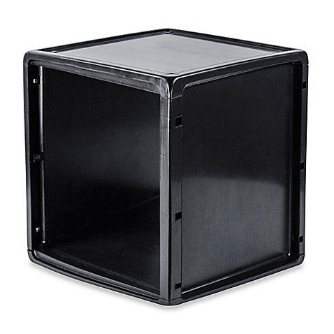 Plastic Storage Cube in Black