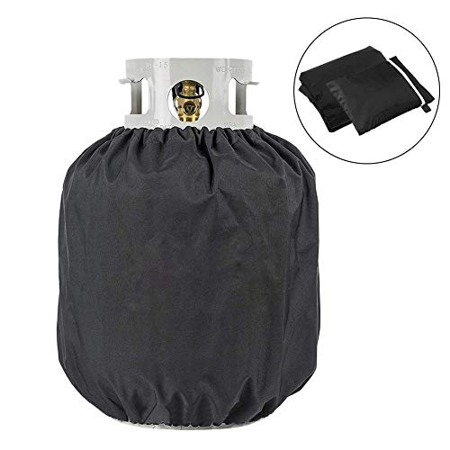 etateta Heavy Duty Propane Tank Cover - Dress Up Your Gas Grill - Special Fade and UV Resistant Fabric- Durable and Convenient, Fits Standard 20lb Tank Cylinder ()
