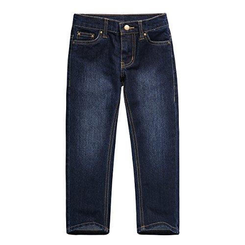 Deep Blue Wash Straight Jean - 8