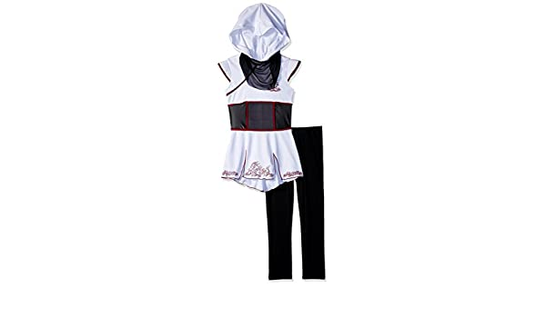 Girls White Ninja Fancy dress costume Small: Amazon.es ...