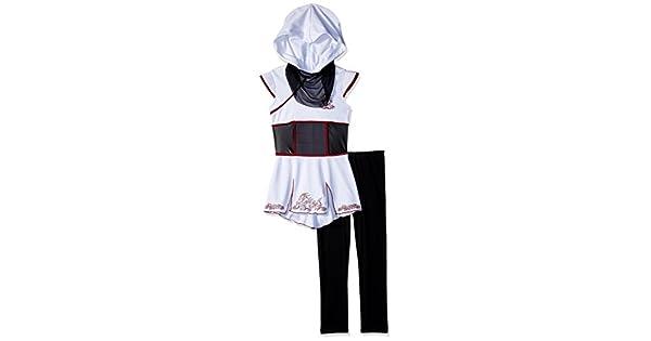 Amazon.com: Fearless Color Blanco Ninja Chica Kids Costume ...