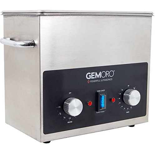 GemOro 3QTH Next Gen Stainless Steel Ultrasonic Jewelry Cleaner With Basket