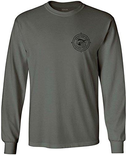 Koloa Surf Long Sleeve Marlin Logo Heavy Cotton T-Shirt-Charcoal/b-M