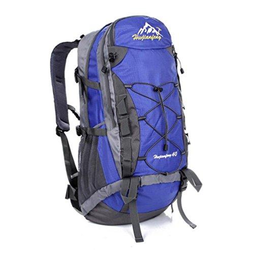 40L Outdoor-Freizeit-Reisetasche mit großer Kapazität Tasche wasserdichte Tasche Reit Blue