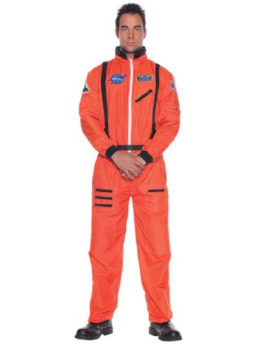 Adult Orange Astronaut Costumes (Underwraps Men's Astronaut Costume, Standard)