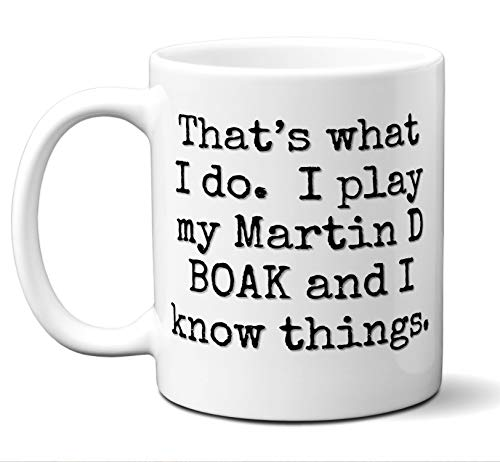 Guitar Gift Mug. Martin D BOAK Players Lover Accessories Music Teacher Lover Him Her Funny Dad Men Women Card Pick Musician Acoustic Unique. 11 oz.