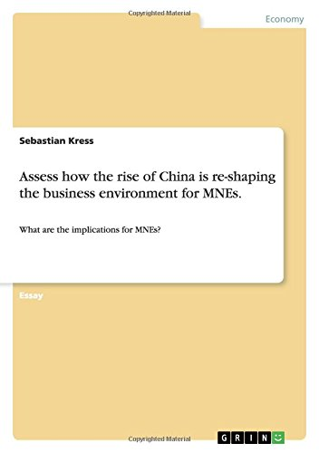 Download Assess how the rise of China is re-shaping the business environment for MNEs. pdf