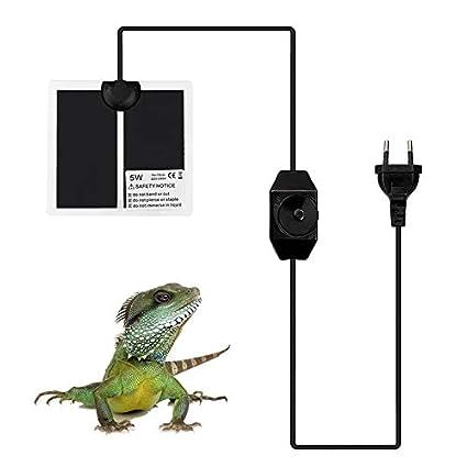 Reptil Calefacci/ón Mat USB Calefacci/ón Hoja de Fibra de Carbono para Animales Peque/ños Con Interruptor para Control de Temperatura Tama/ño M Con Controlador de Interruptor