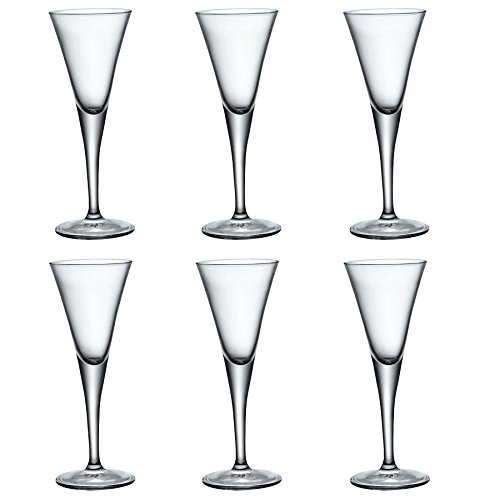 Bormioli Rocco Fiore Clear Stemmed Sherry Glasses - 55ml - Pack of 6