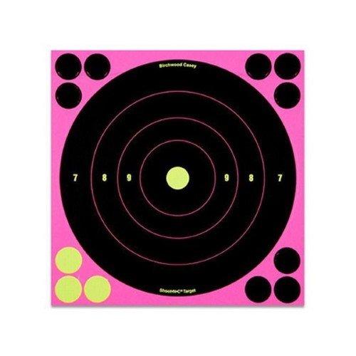 UPC 029057348286, Birchwood Casey Shoot-N-C Pink Bull's-eye Target (Pack of 30), 8-Inch, Black