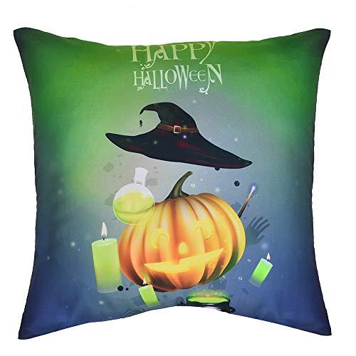 Unpara Happy Hollowen Print Pillow Sofa Case Polyester Decor Cushion Cover for Home, Beedroom, Car, Office, Travel
