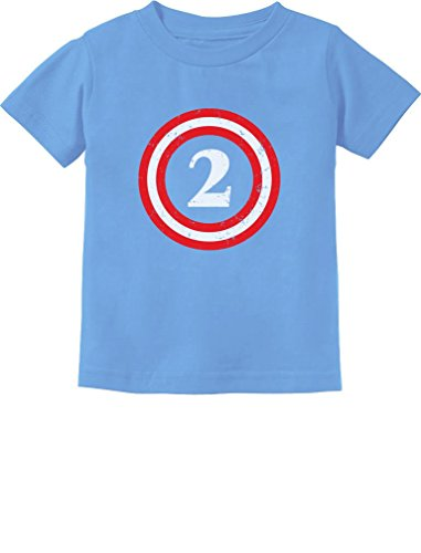Captain 2nd Birthday - Gift for Two Years Old Toddler/Infant Kids T-Shirt 2T California Blue