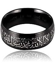 Stainless Steel Unisex Muslim Islamic Band Ring/ black