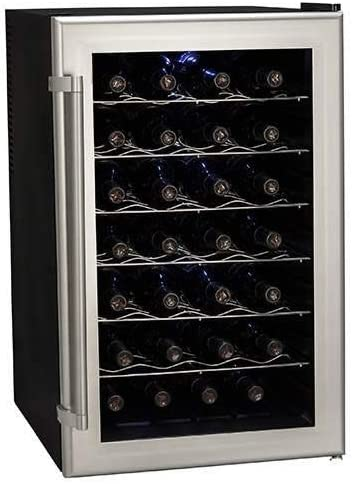 Koldfront TWR282S 28 Bottle Ultra Capacity Thermoelectric Wine Cooler – Platinum