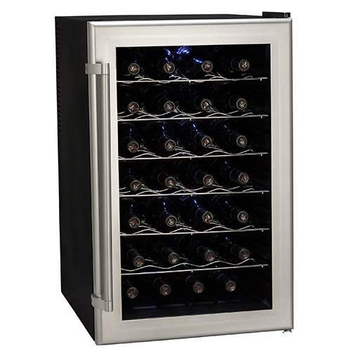 Koldfront TWR282S 28 Bottle Ultra Capacity Thermoelectric Wine Cooler - Platinum by Koldfront