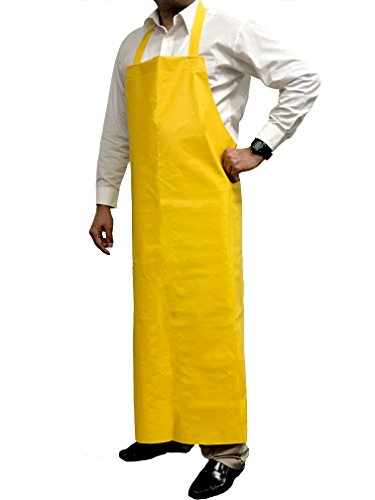 KLEEN CHEF Everyday General Use Polyester Dishwashing Apron, Industrial Water and Oil Resistant Reusable PVC Leather