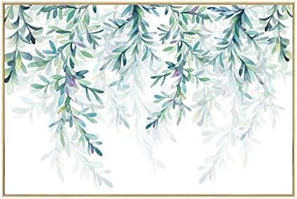 リビングルームの葉に壁画通路の絵を描く壁画植物レストラン装飾画のダイニングルーム緑色植物 (Color : WOOD COLOR, Size : 48X73*3.5CM)