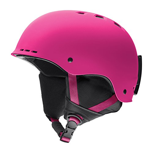 Pink Snowboard Helmet - Smith Optics Holt Adult Ski Snowmobile Helmet - Matte Fuchsia/Medium
