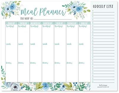 Meal Plan /& Shopping List Magnetic Stick on Fridge Weekly Menu Diet Planner