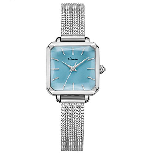 TIDOO Jewelry Luxury Square Dial Thin Mesh Band Watch for Women