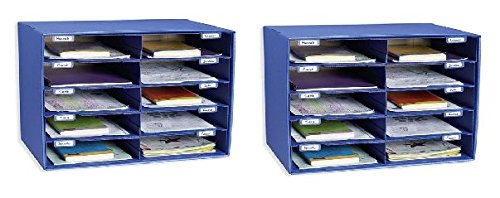 Classroom Keepers 10 Slot Sorter Mail Box and Literature Organizer (Pack of 2)